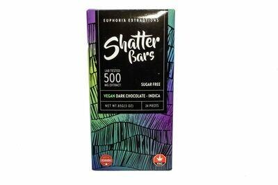 Vegan Dark Chocolate Indica Shatter Bar By Euphoria Extractions (Sugar Free) (500mg) (Current Strain: Northern Lights)