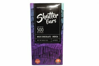 Milk Chocolate Indica Shatter Bar By Euphoria Extractions (500mg) (Current Strain: Northern Lights)