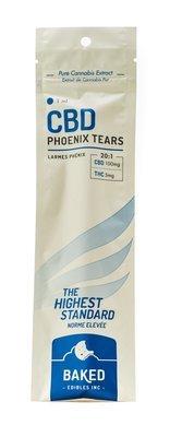 CBD Phoenix Tears Oil 100mg (1ml Syringe) by Baked Edibles