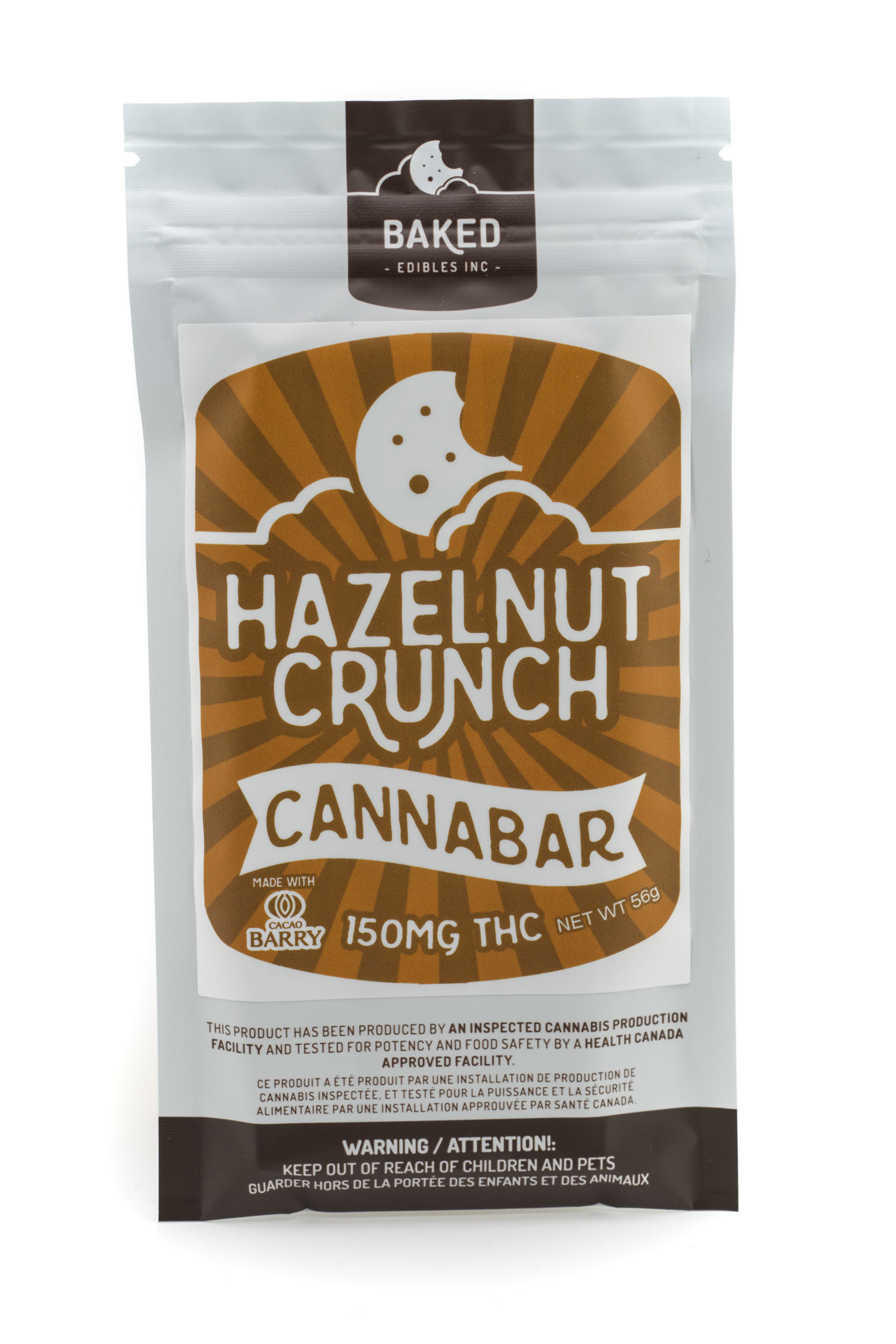 Hazelnut Crunch Cannabar (150mg THC)  by Baked Edibles 00011