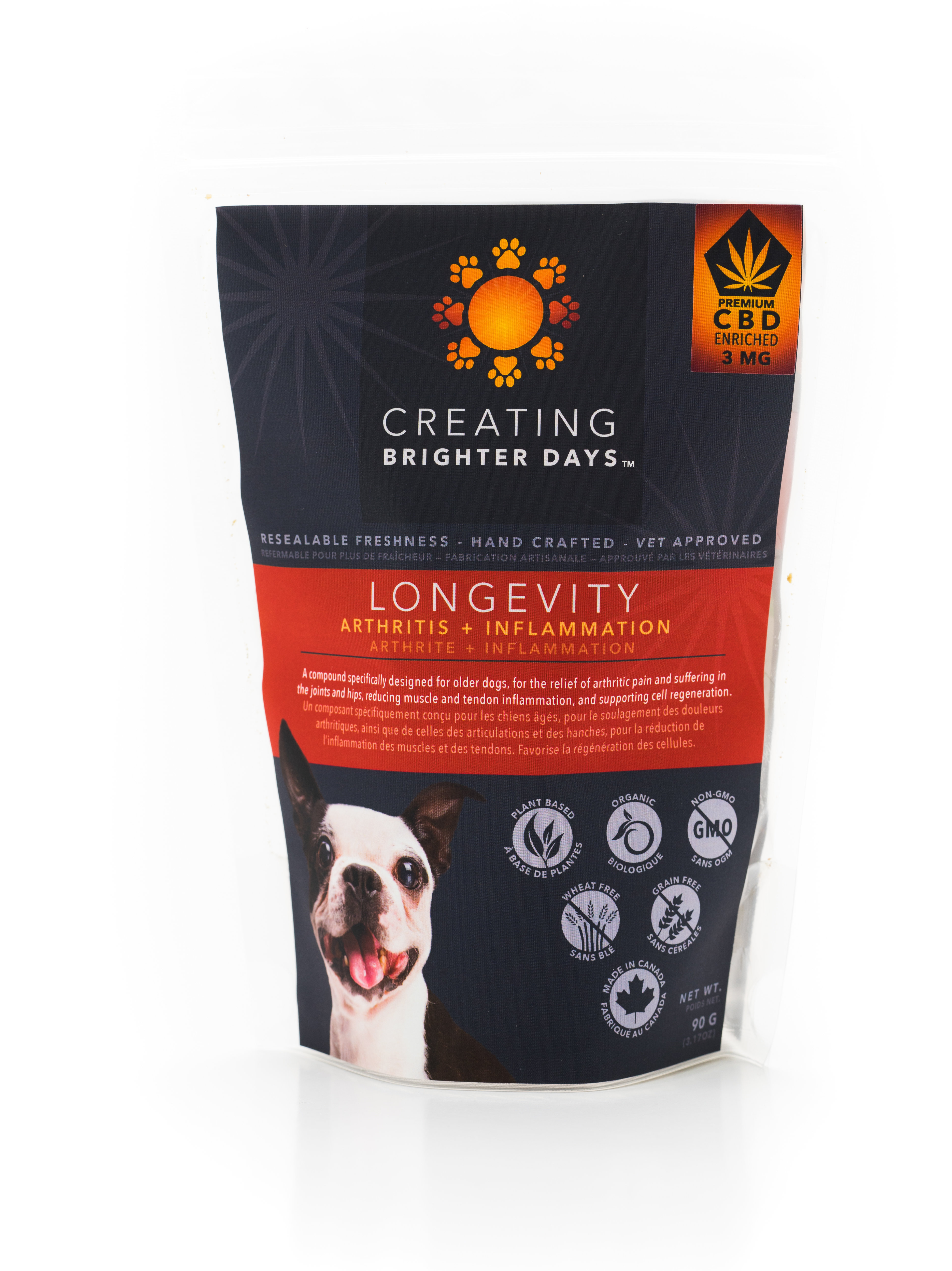 Longevity Enriched Treats (3mg CBD) by Creating Brighter Days 00092