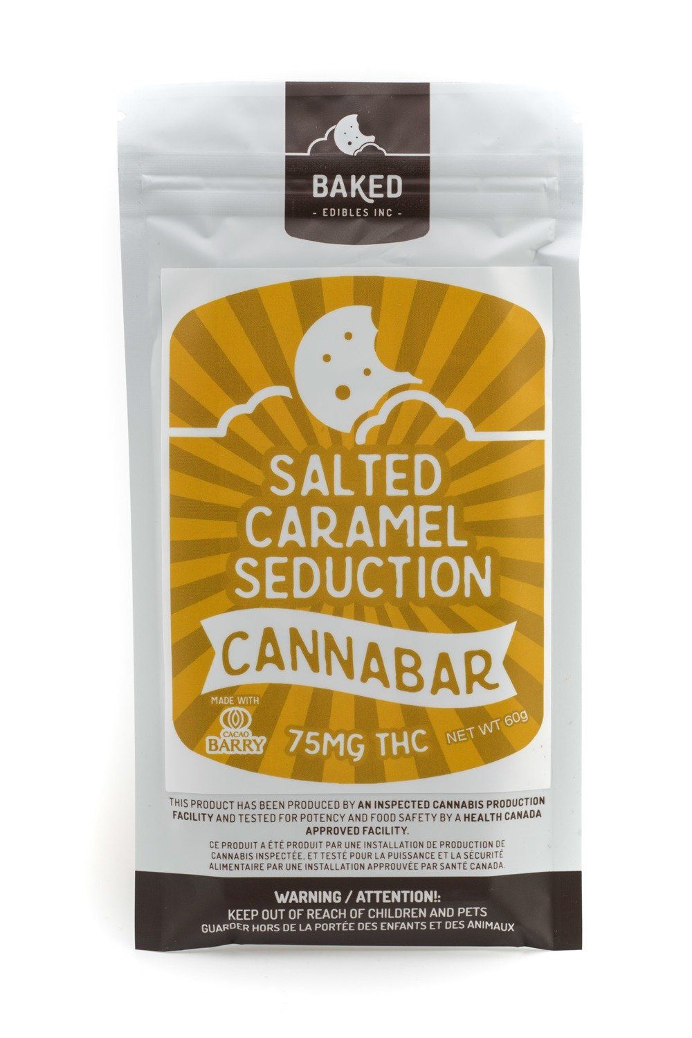 Salted Caramel Cannabar (75mg THC) by Baked Edibles