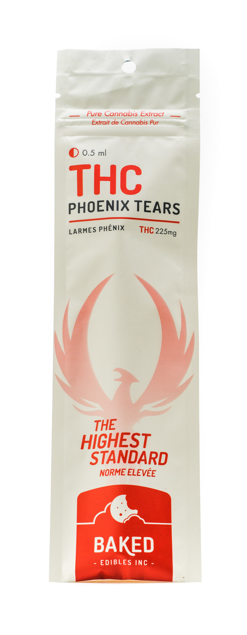 THC Phoenix Tears 225mg (0.5ml Syringe) by Baked Edibles 00055
