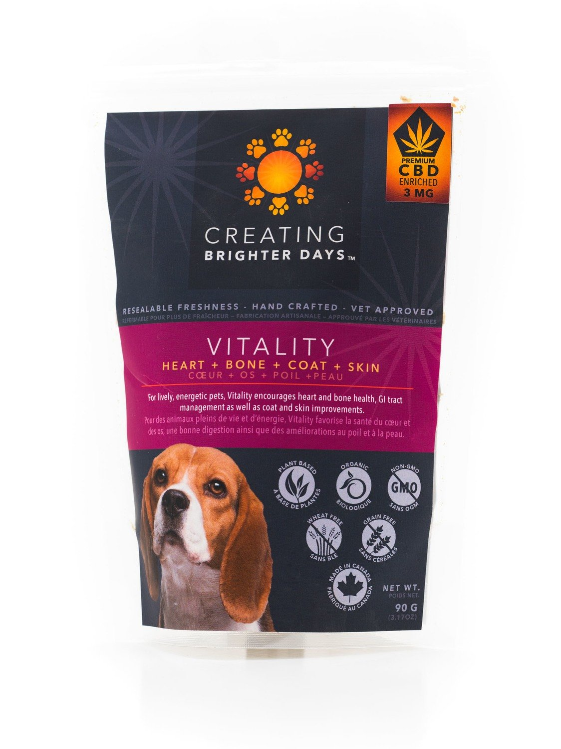 Vitality Enriched Treats (3mg CBD) by Creating Brighter Days