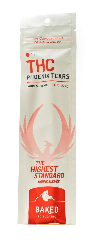 THC Phoenix Tears Oil 450mg (1ml Syringe) by Baked Edibles