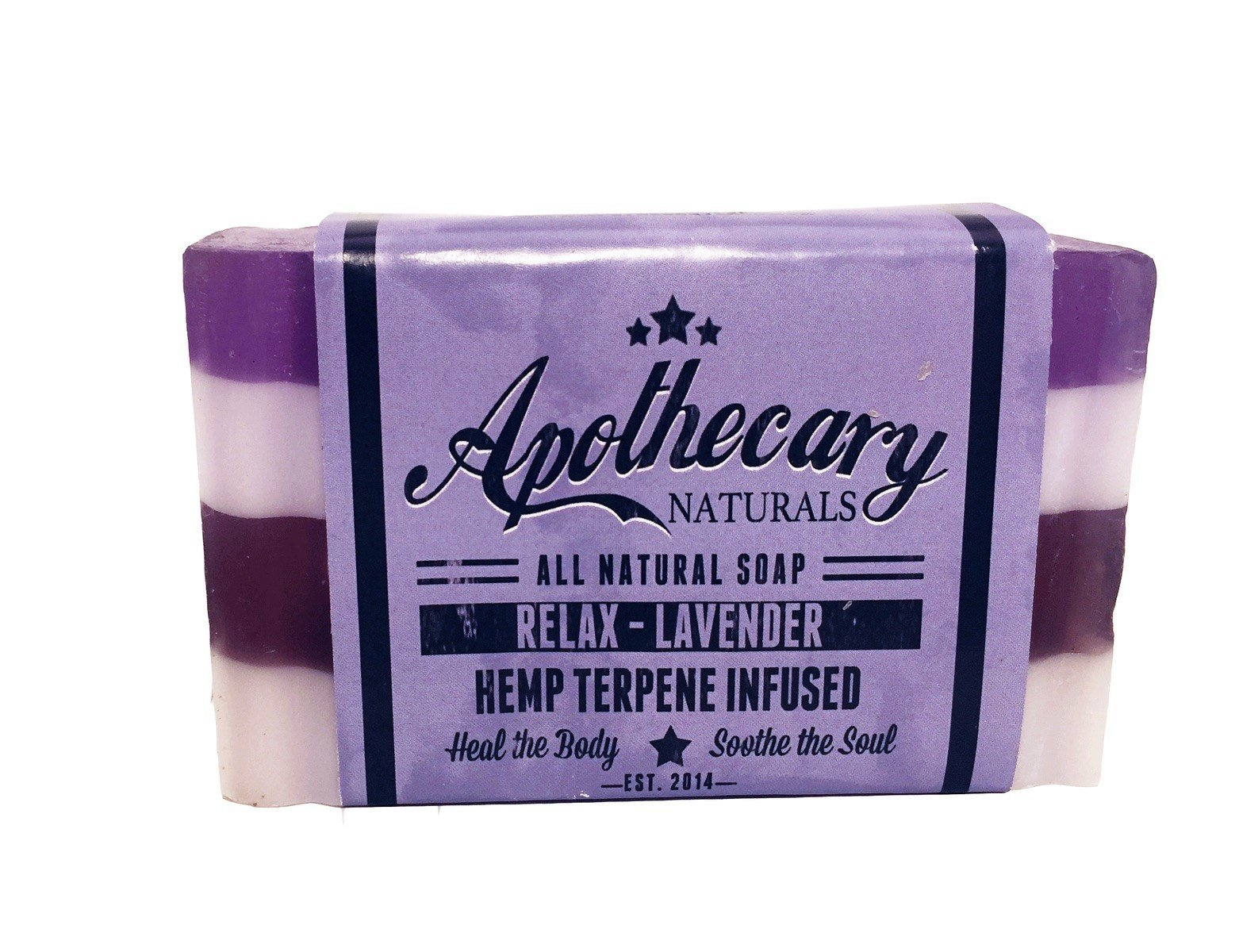 Apothecary Organic CBD Infused Medicated Soap – Relax Lavender 00103