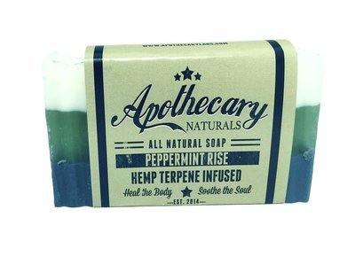Apothecary Organic CBD Infused Medicated Soap – Peppermint Rise
