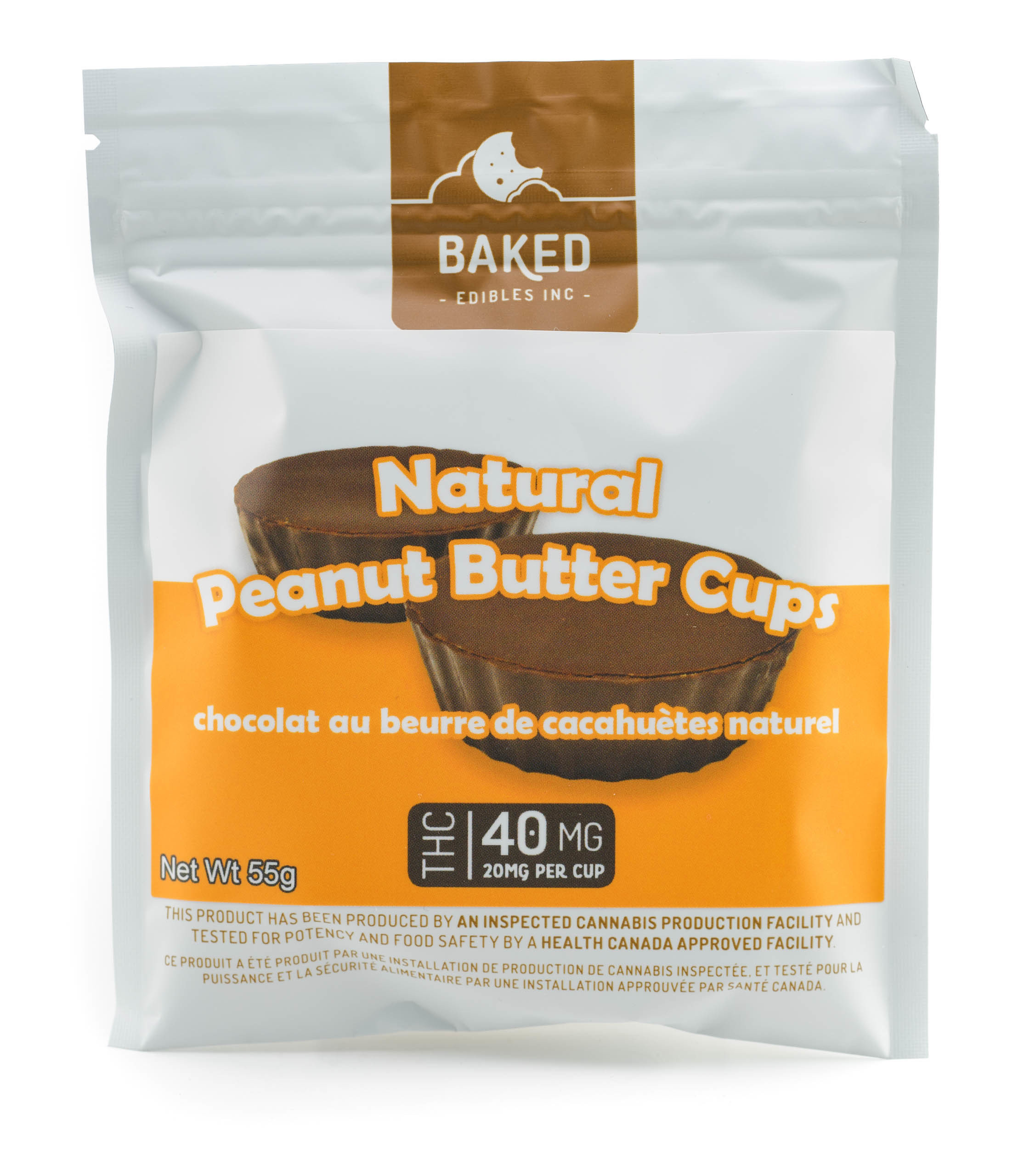 Peanut Butter Cups (40mg THC) by Baked Edibles 00013