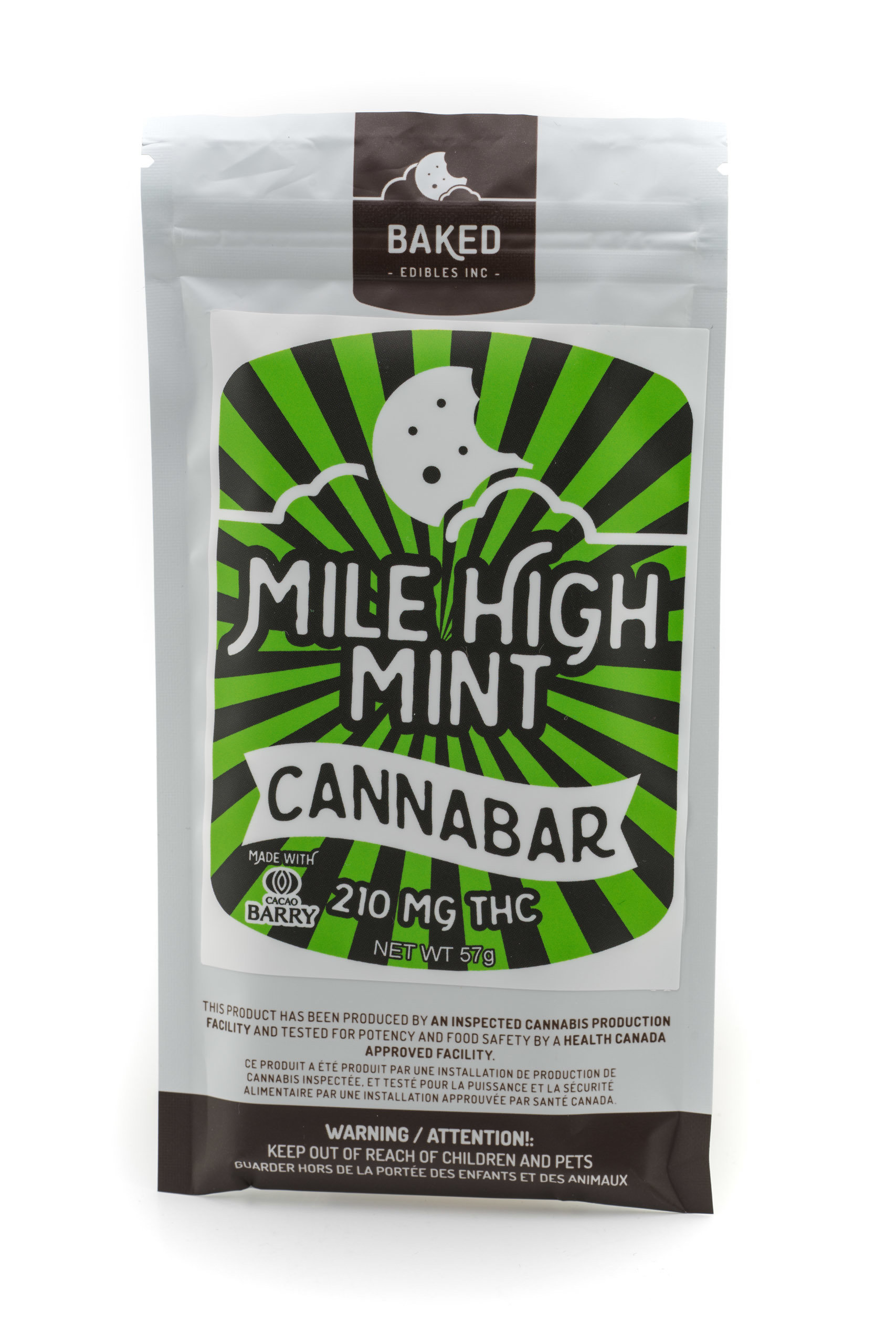 Mile High Mint Cannabar (210mg THC) by Baked Edibles 00044