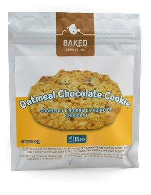 Oatmeal Chocolate Cookie (15mg THC) by Baked Edibles
