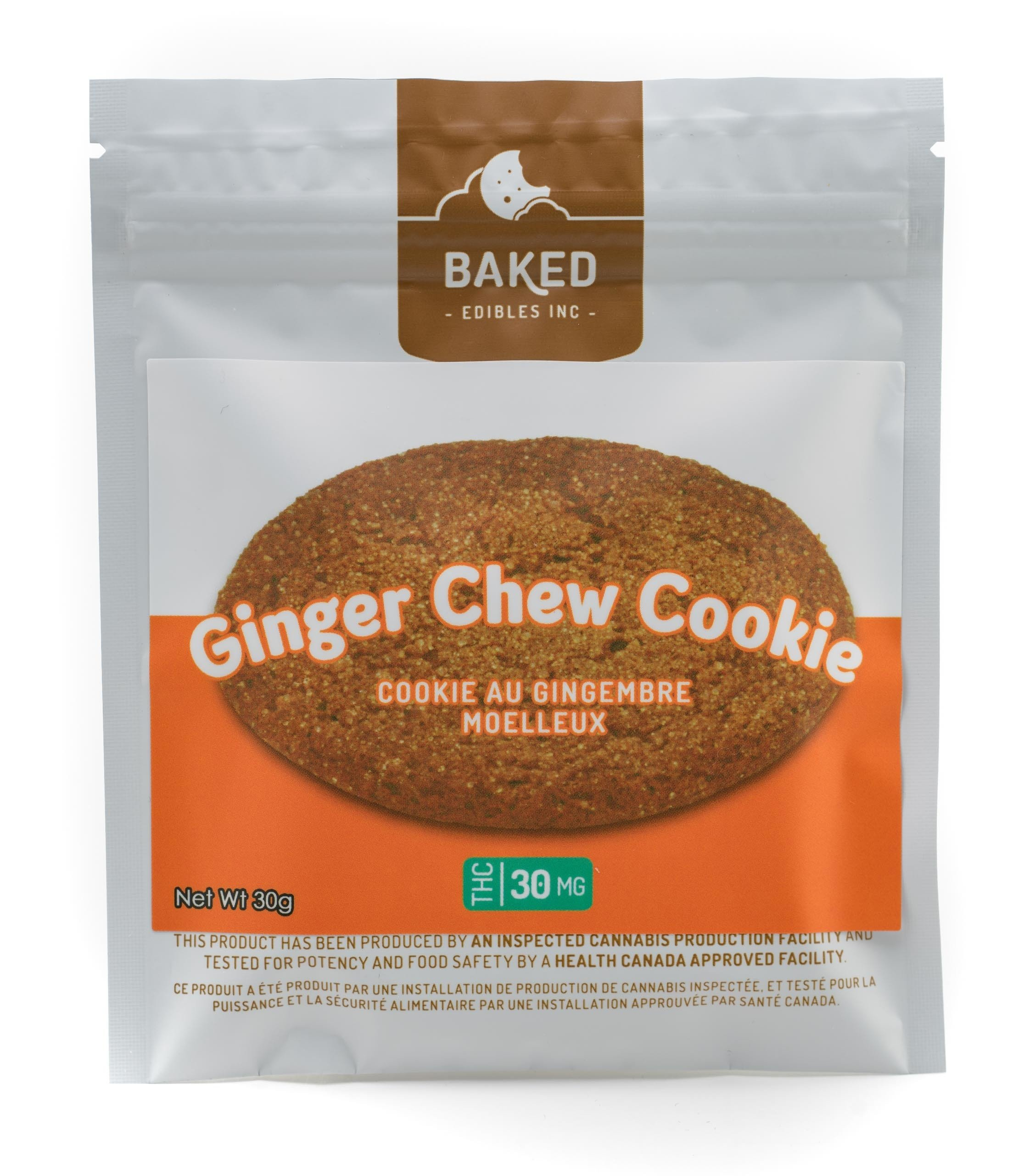 Ginger Chew Cookie (30mg THC) by Baked Edibles 00016