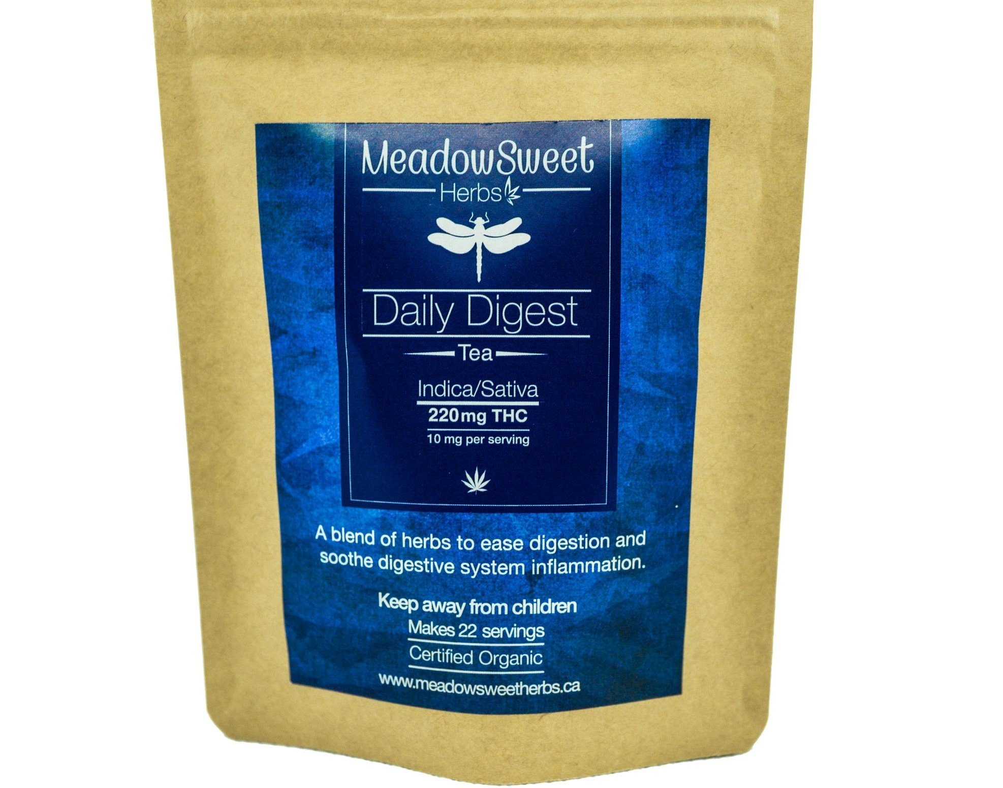 Daily Digest Tea by MeadowSweet Herbs (220mg THC) 01151