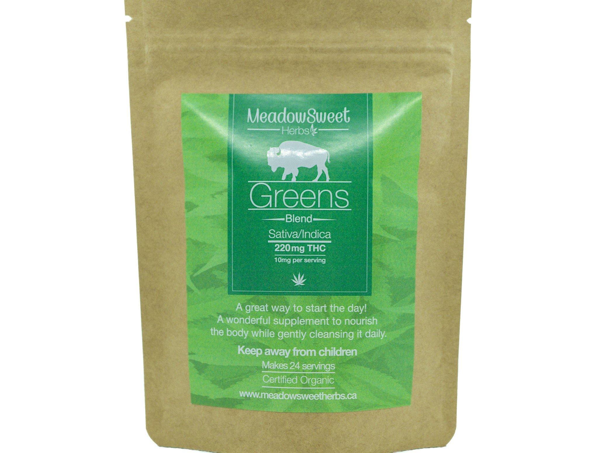 Greens Blend Supplement by MeadowSweet Herbs (220mg THC) 01147