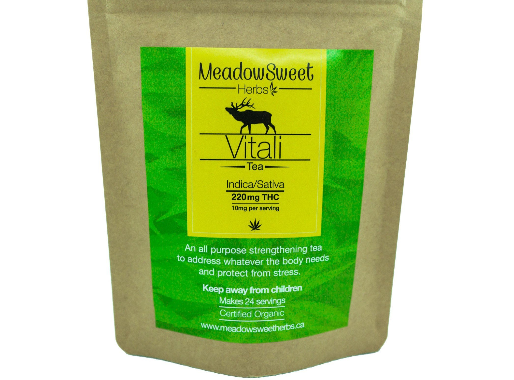 Vitali Tea by MeadowSweet Herbs (220mg THC) 01150