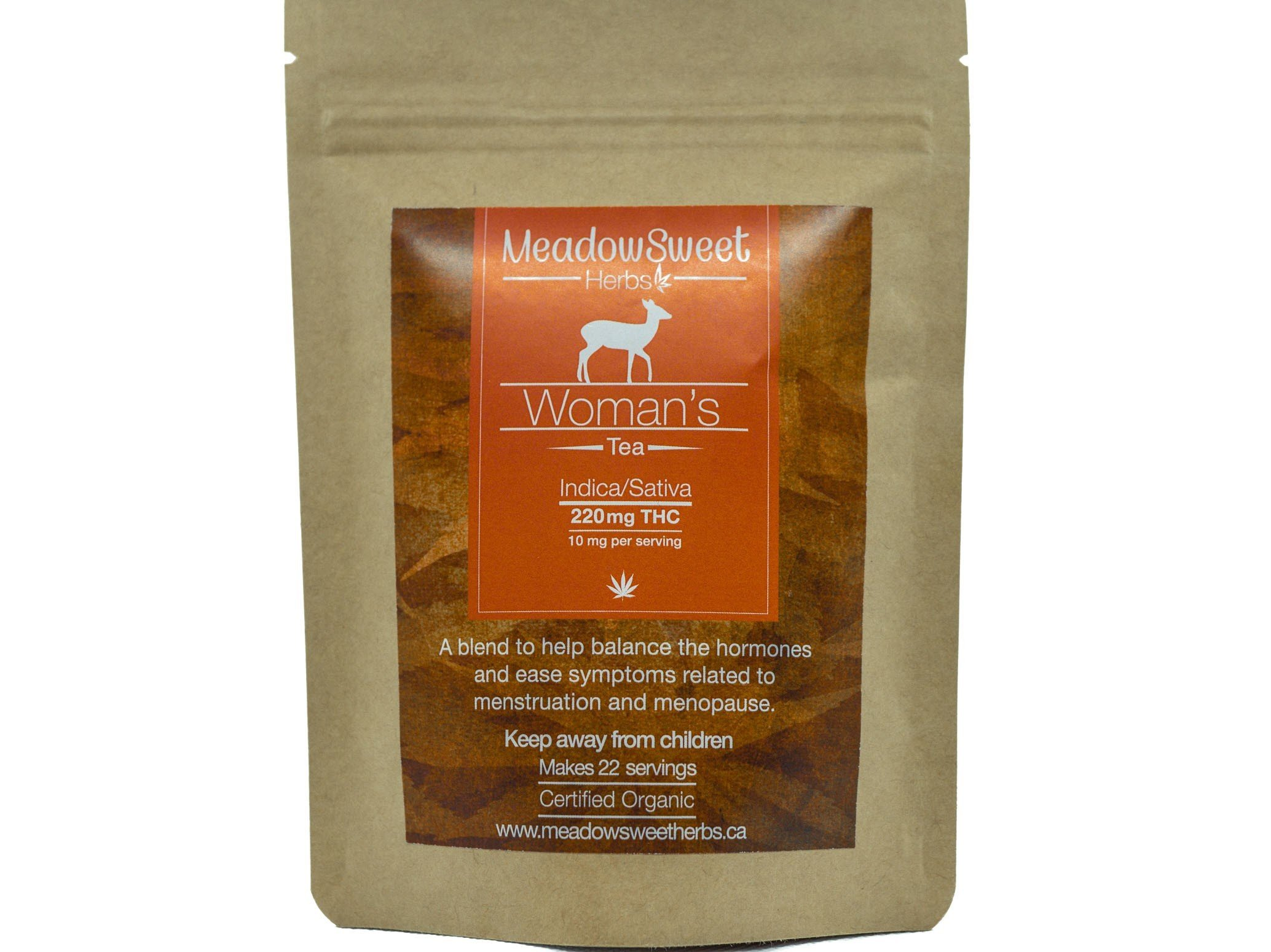Women's Tea by MeadowSweet Herbs (220mg THC) 01149