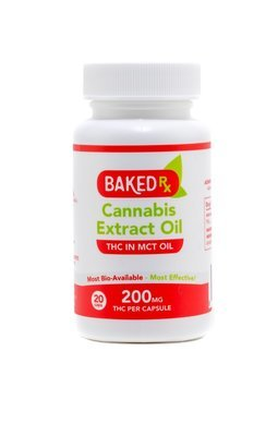 200mg THC Capsules (20 pack) by Baked Edibles