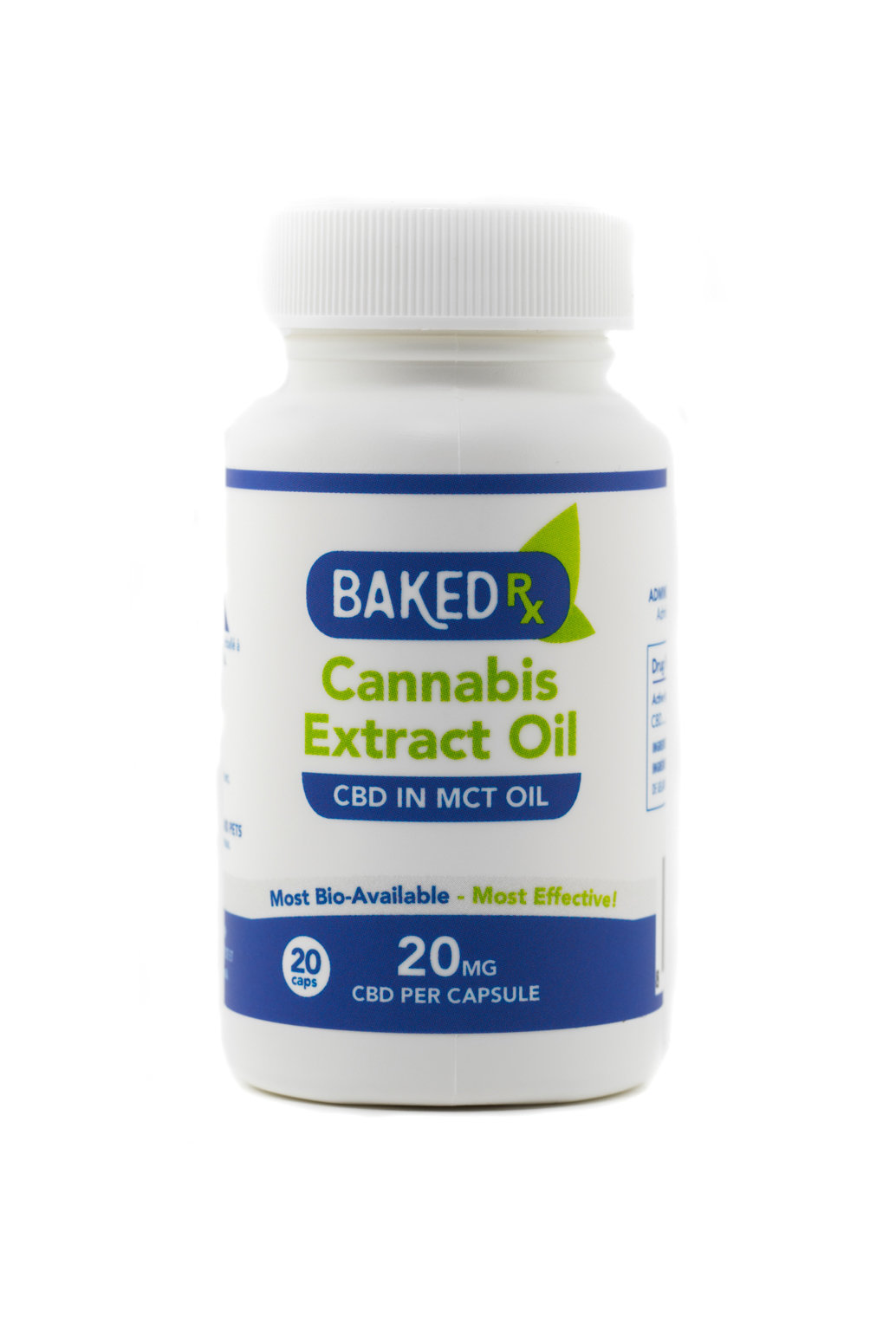 20mg CBD Capsules (20 pack) by Baked Edibles 00045