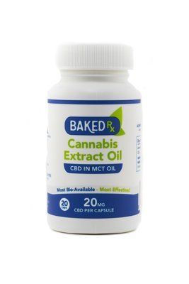 20mg CBD Capsules (20 pack) by Baked Edibles