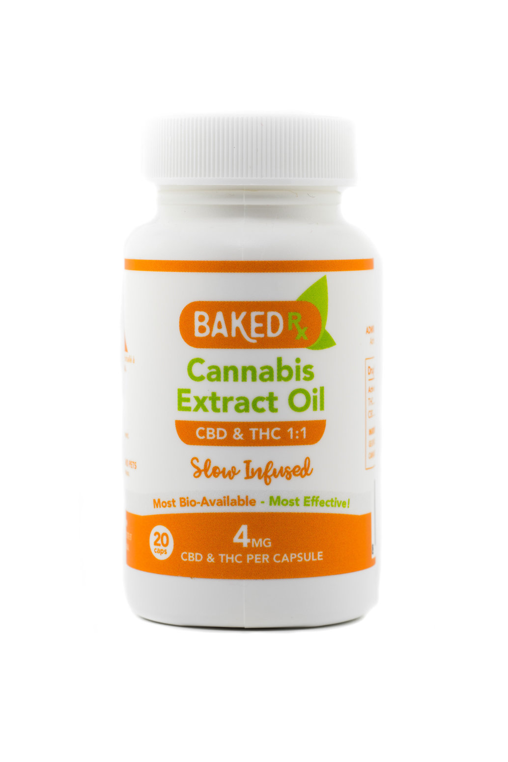 4mg 1:1 THC/CBD Cannoil (20 pack) by Baked Edibles 00046