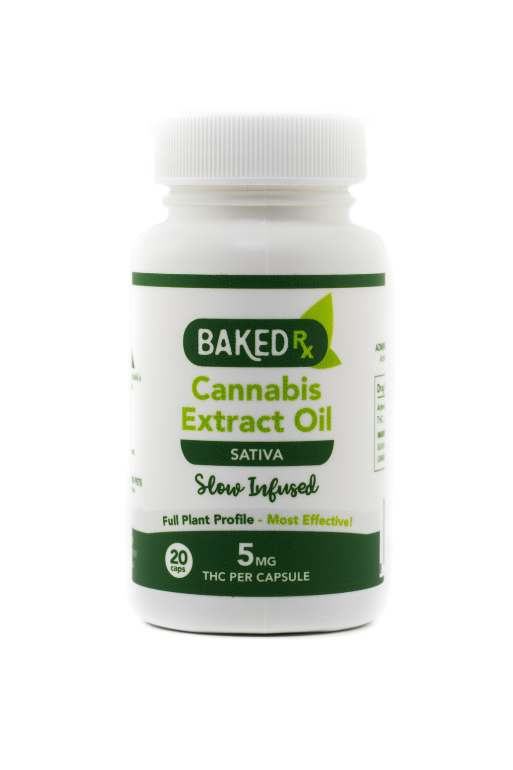 5mg Slow Infused Sativa Cannoil Capsules (20 pack) by Baked Edibles 00048