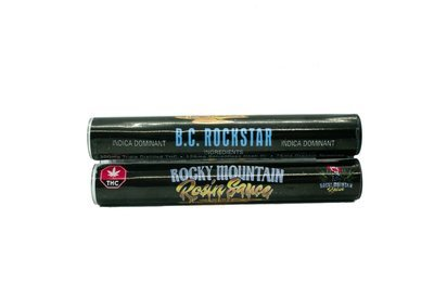 B.C Rockstar (Indica) (Full Spectrum) Rosin Sauce Replacement Cartridge (0.5ml/1ml) by Rocky Mountain