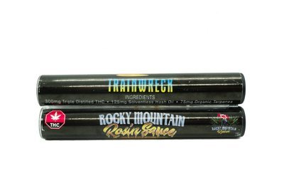 Trainwreck (Indica) (Full Spectrum) Rosin Sauce Replacement Cartridge (0.5ml/1ml) by Rocky Mountain