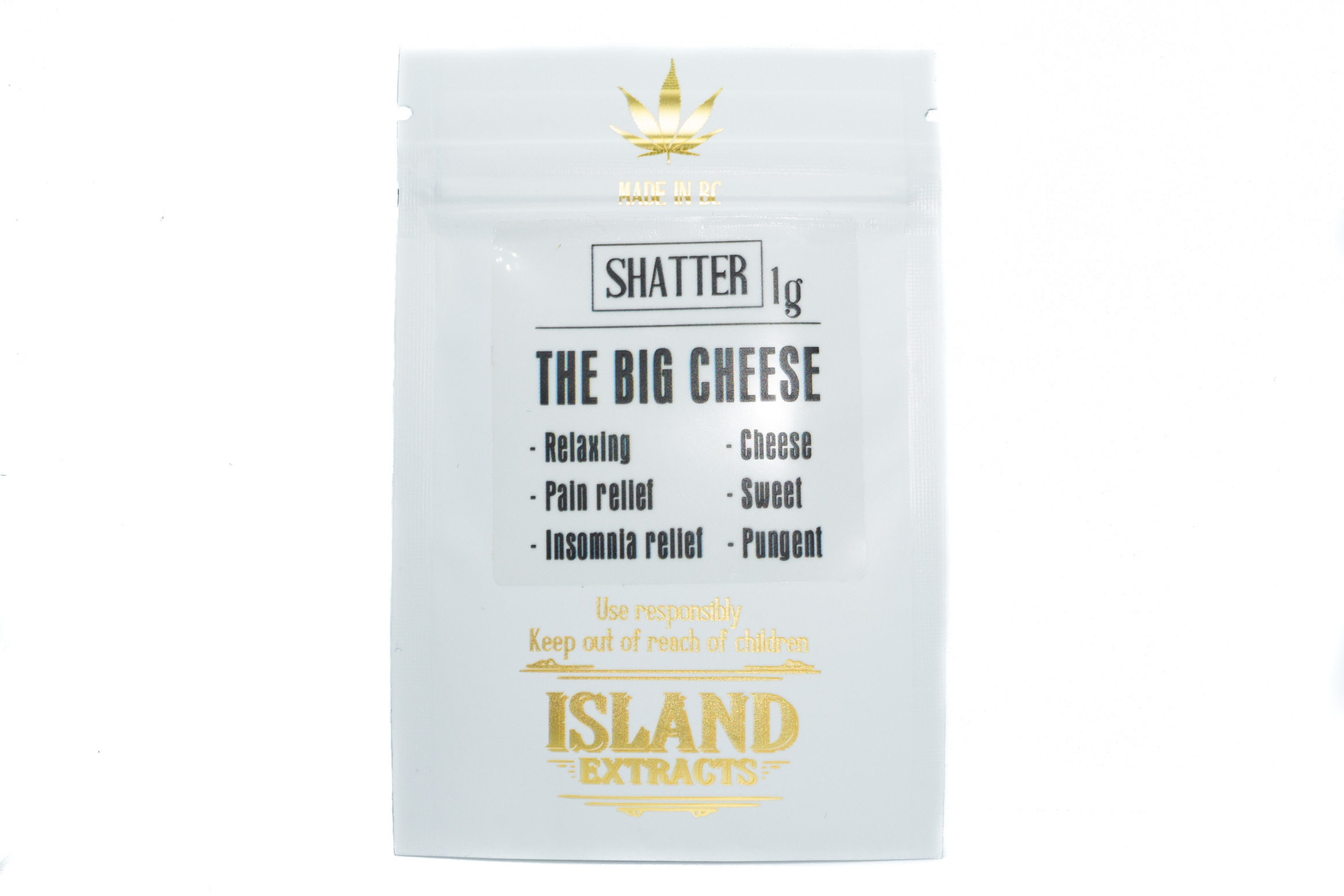 The Big Cheese Shatter (1g) by Island Extracts 01223