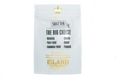 The Big Cheese Shatter (UK Cheese & Dutch Kush) (1g) by Island Extracts