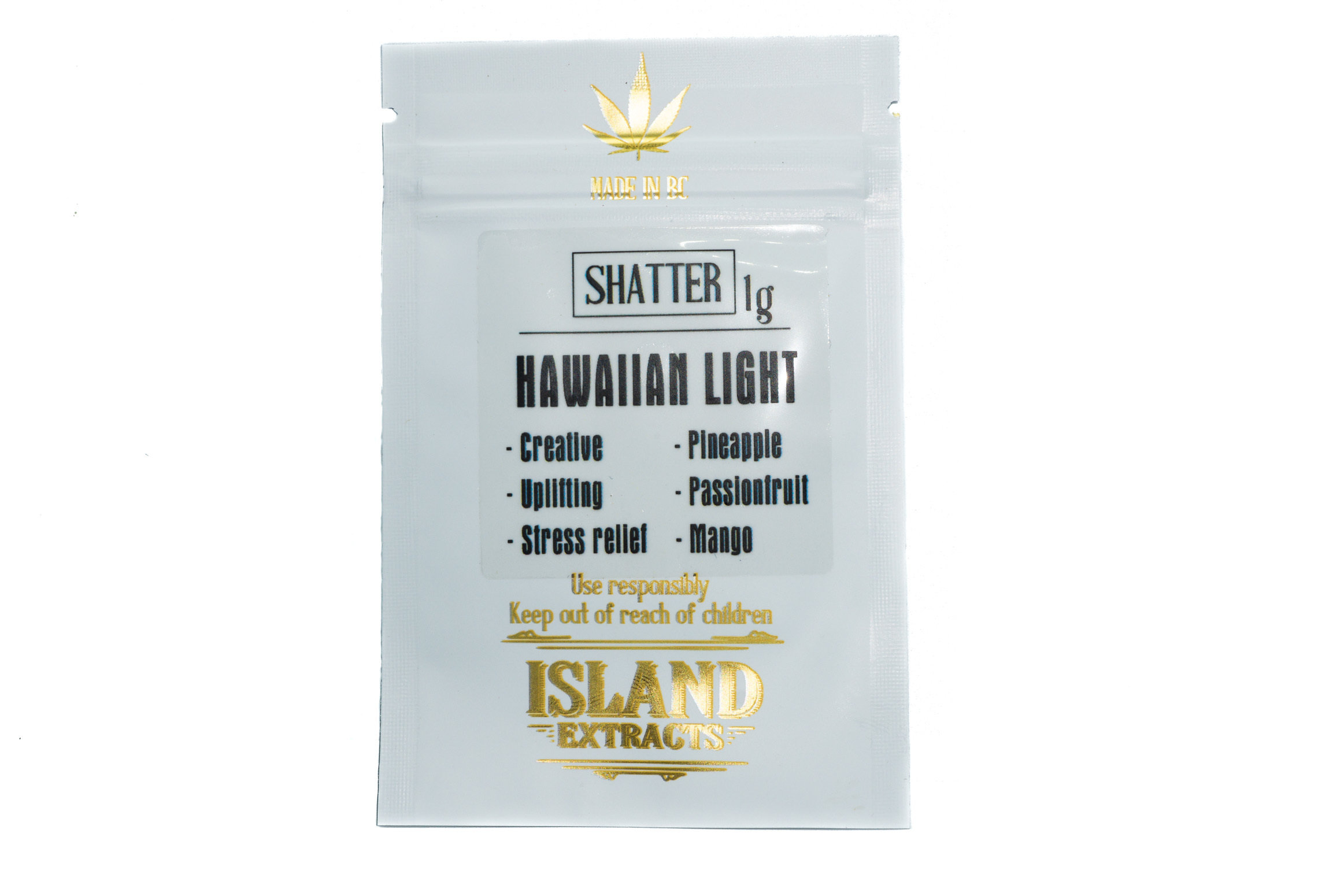 Hawaiian Light Shatter (1g) by Island Extracts 01224