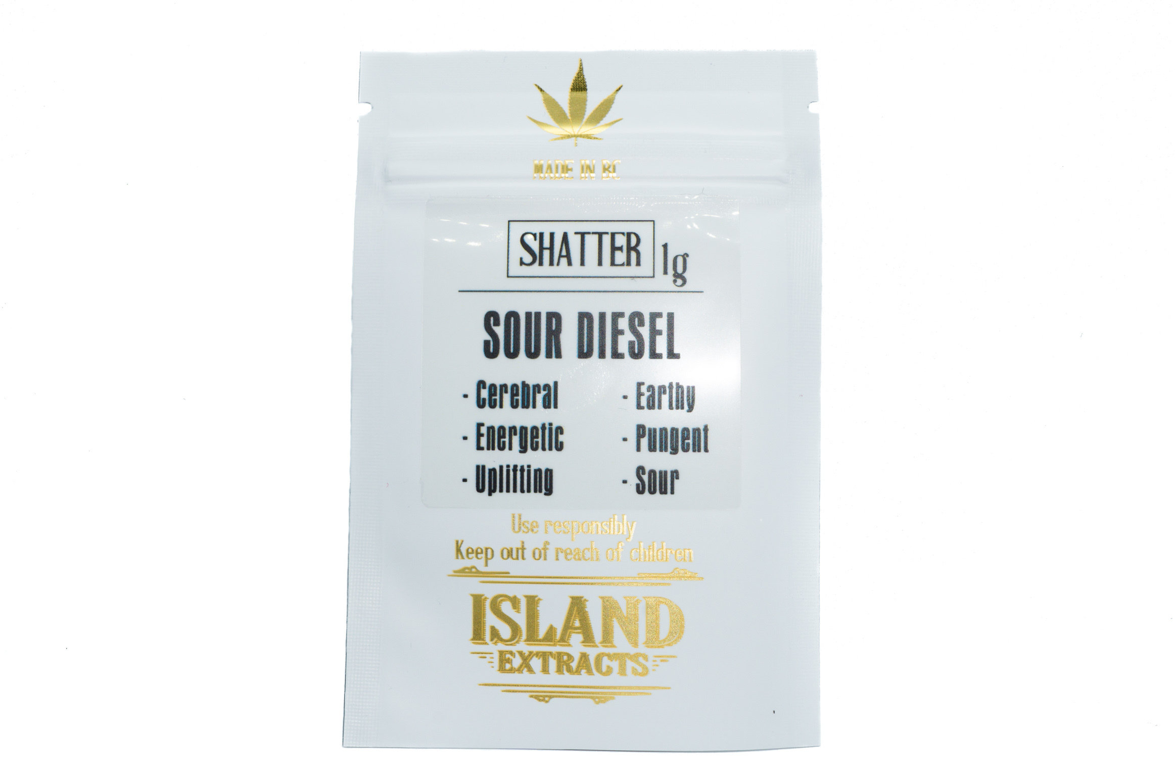 Sour Diesel Shatter (1g) by Island Extracts 01169