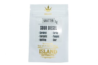 Sour Diesel Shatter (1g) by Island Extracts