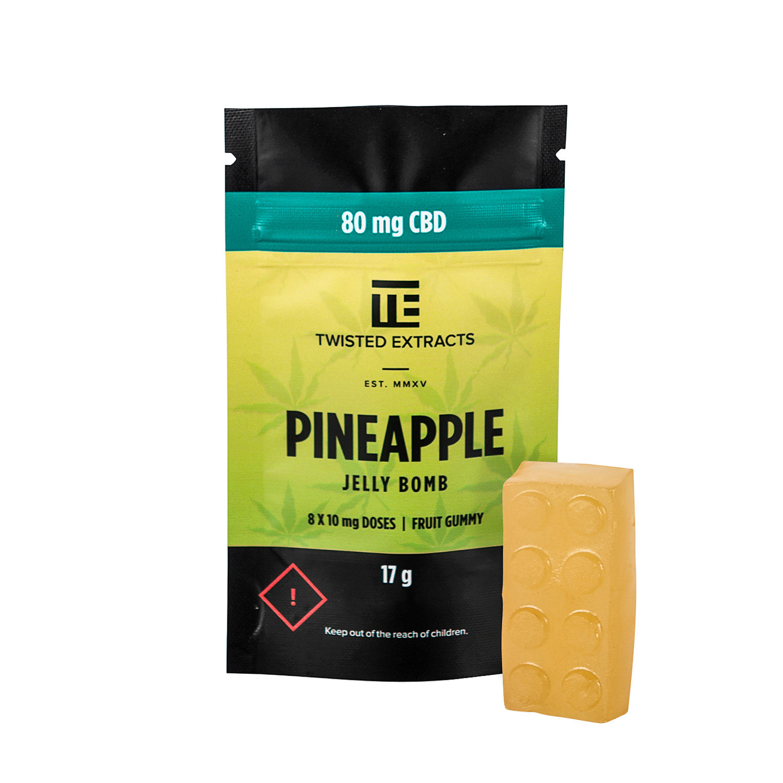 80mg CBD Pineapple Jelly Bomb by Twisted Extracts 00008