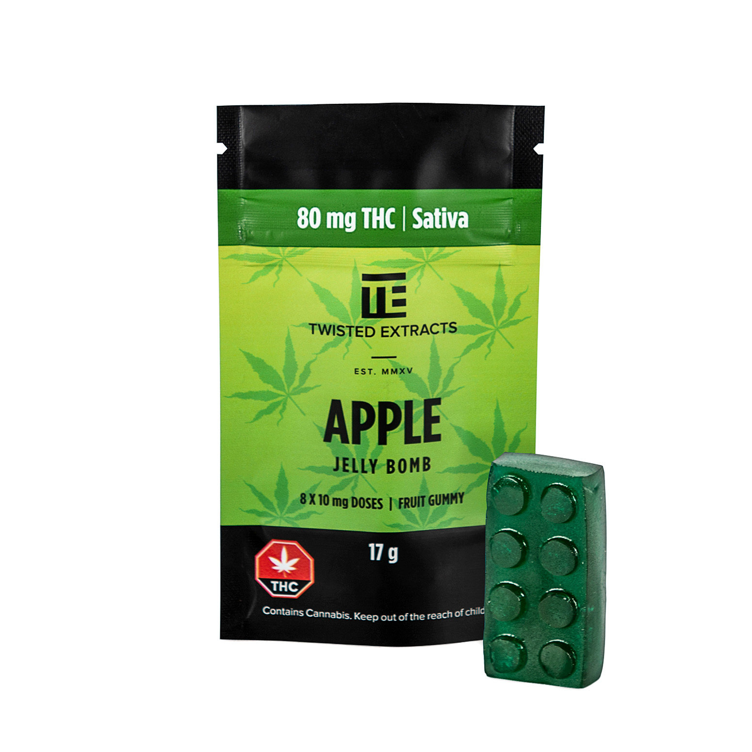 80mg THC Apple Jelly Bomb by Twisted Extracts 00005