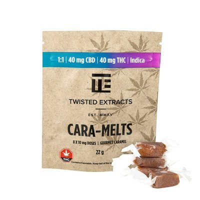 Cara-Melts Indica/CBD (40mgTHC/40mg CBD) by Twisted Extracts