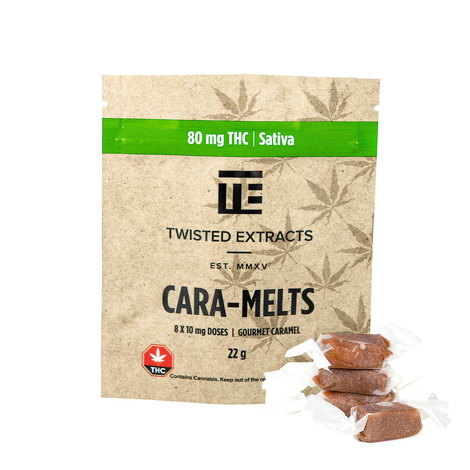 Cara-Melts THC Sativa (80mg) by Twisted Extracts 00039
