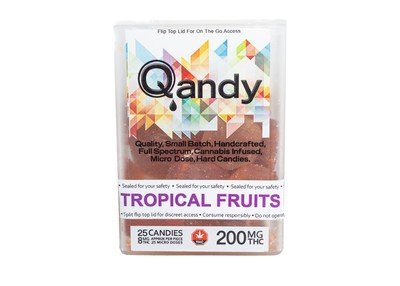 (200mg) Tropical Fruits Full Spectrum Hard Candies By Qandy (Vegan/Gluten Free)