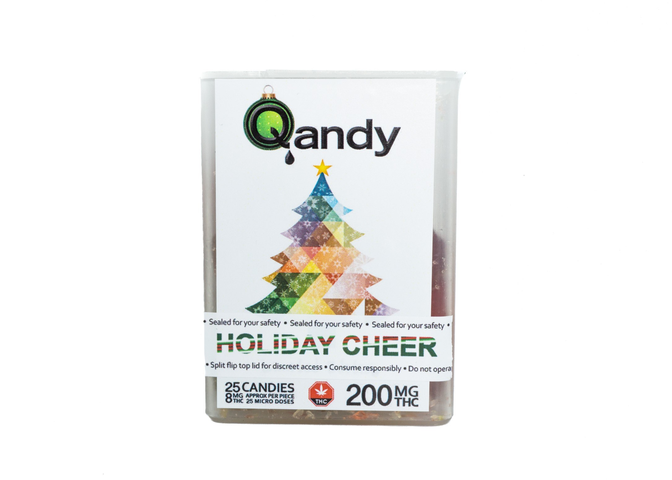 (200mg) Holiday Cheer Full Spectrum Hard Candies By Qandy (Vegan/Gluten Free) 01252