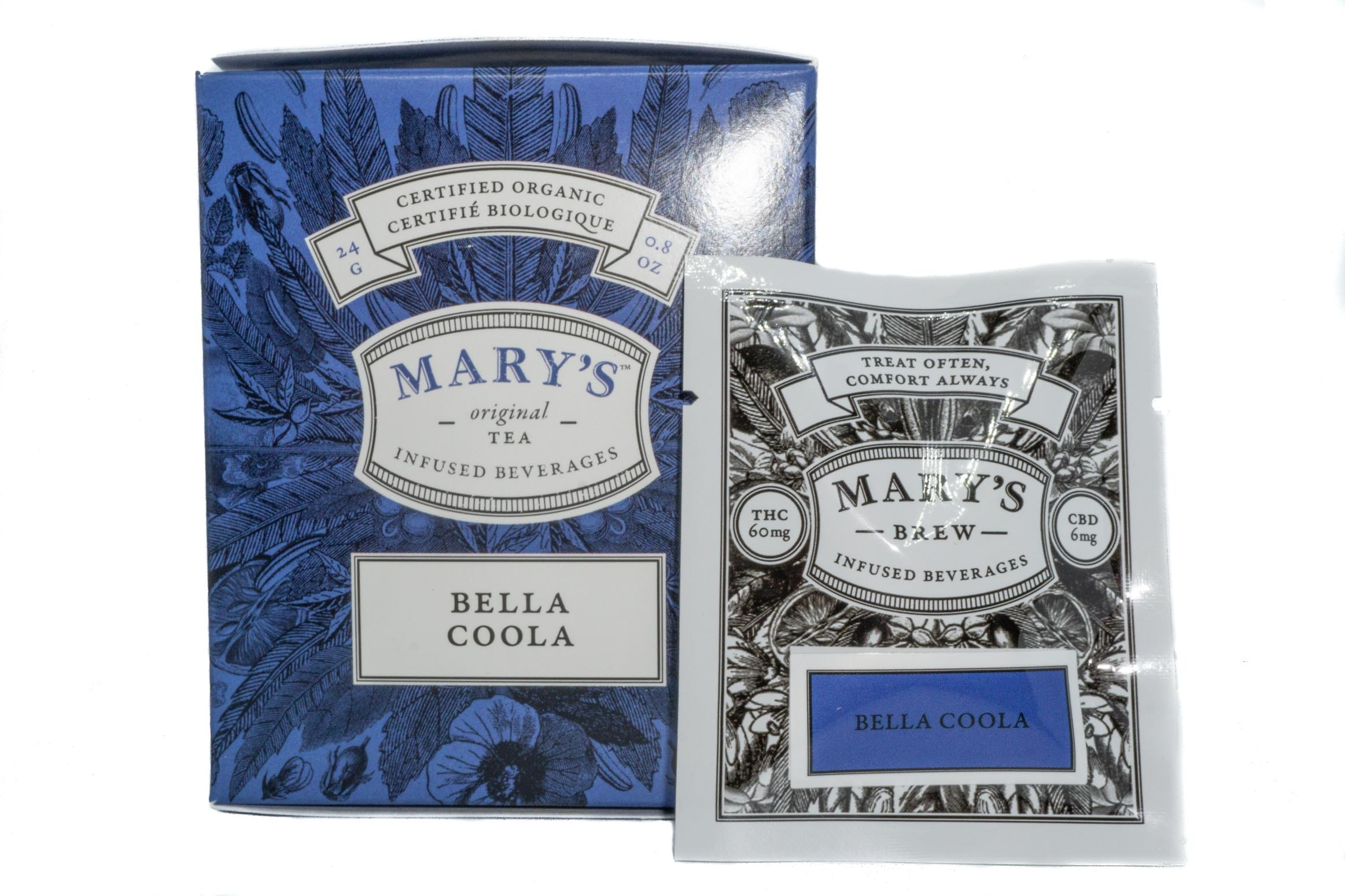 Mary's Wellness Bella Coola Tea (Single Sachet) (60mg THC/6mg CBD) 01235