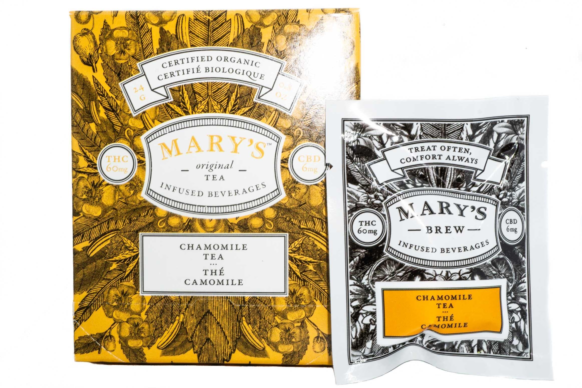 Mary's Wellness Chamomile Tea (Single Sachet) (60mg THC/6mg CBD) 01239