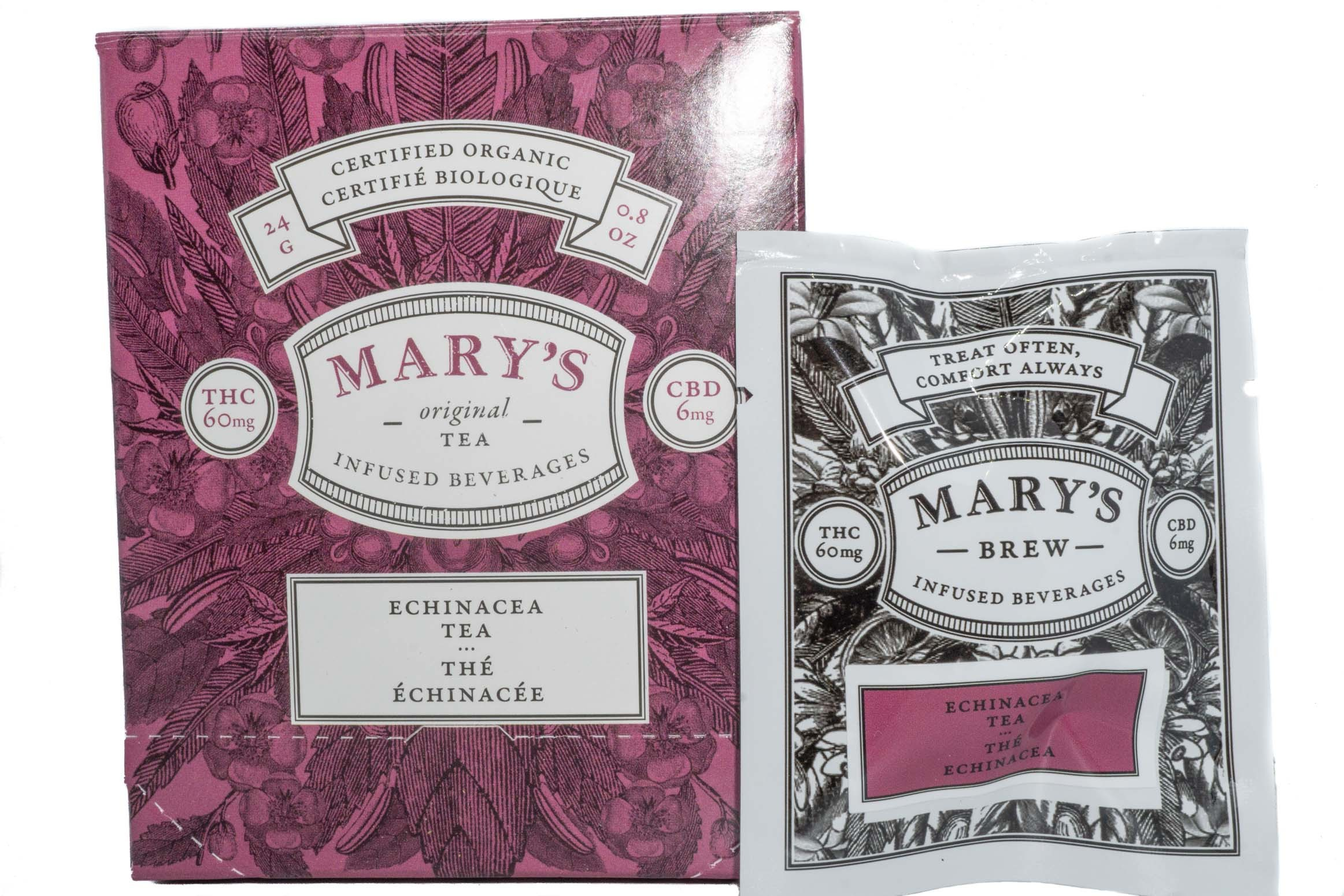Mary's Wellness Echinacea Tea (Single Sachet) (60mg THC/6mg CBD) 01238