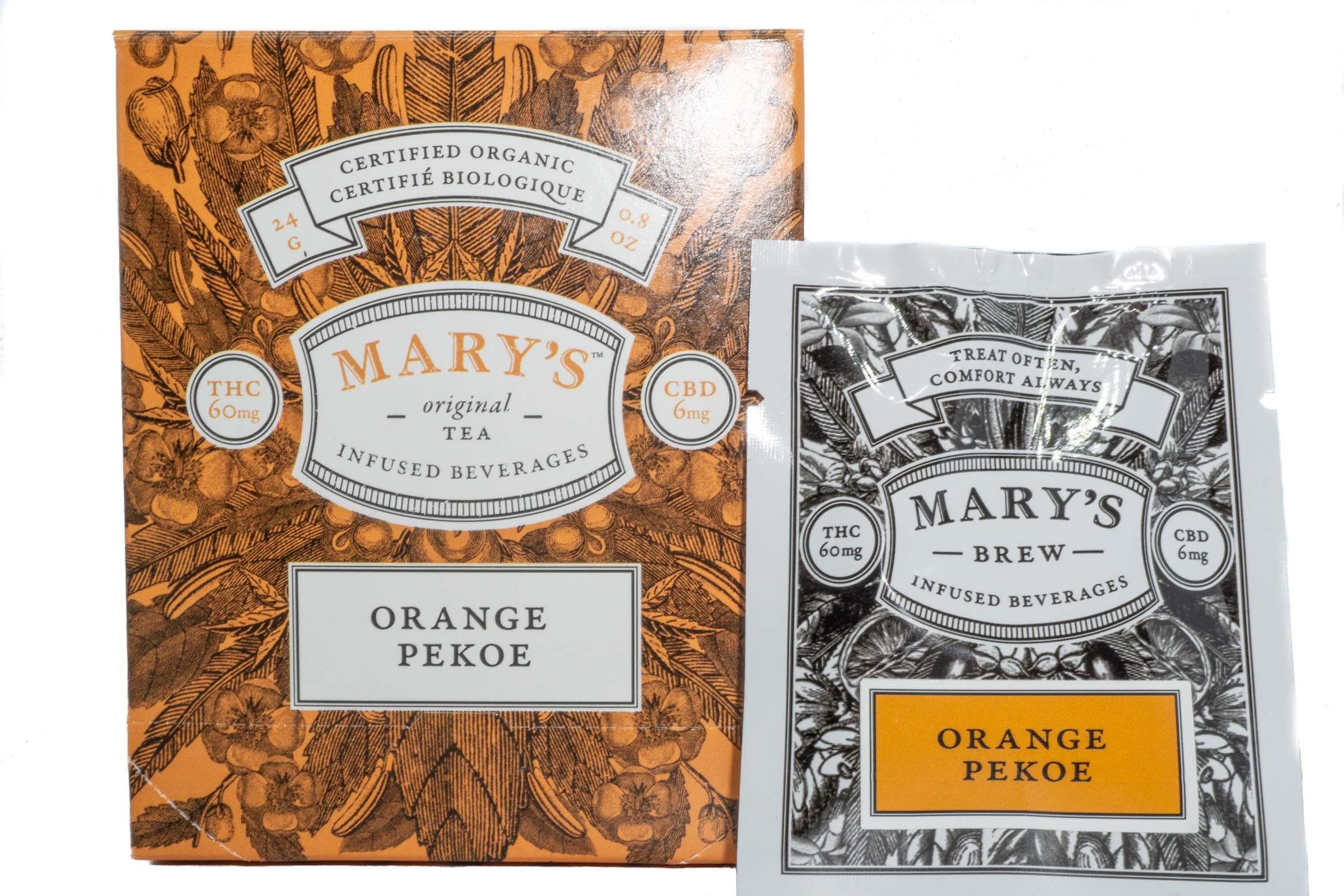 Mary's Wellness Orange Pekoe Tea (Single Sachet) (60mg THC/6mg CBD) 01237