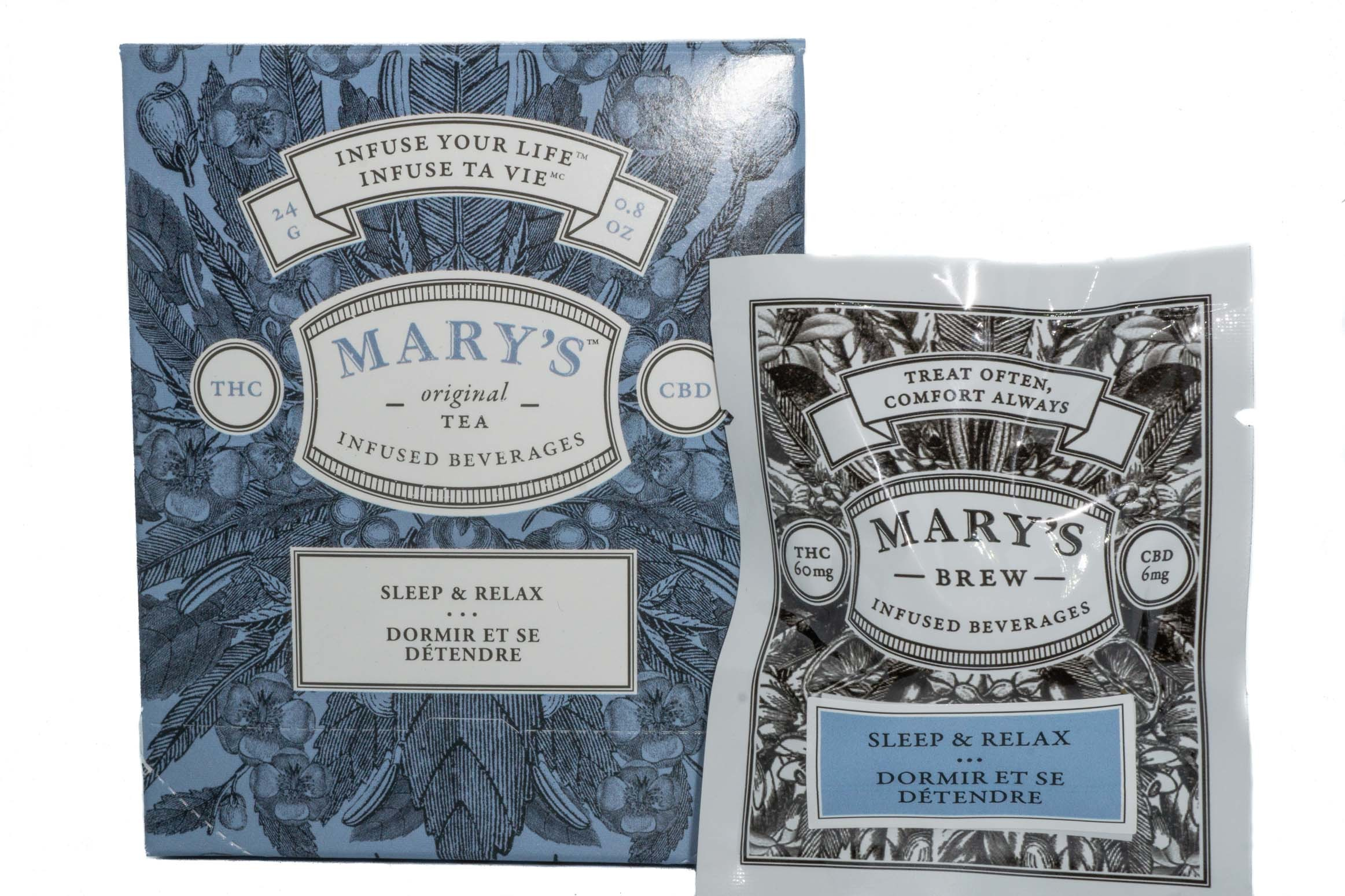 Mary's Wellness Sleep & Relax Tea (Single Sachet) (60mg THC/6mg CBD) 01234