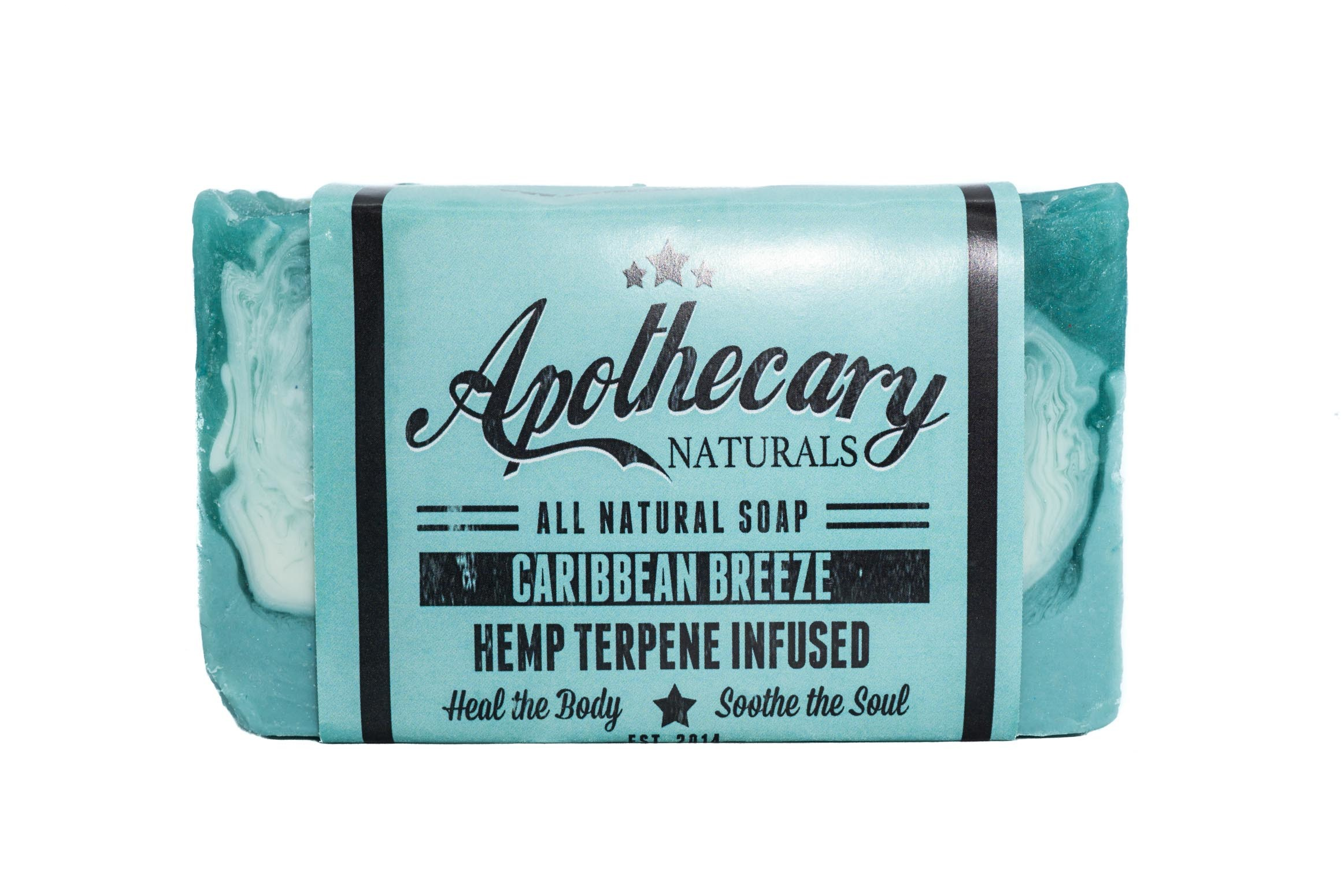 Apothecary Organic CBD Infused Medicated Soap – Caribbean Breeze 01262