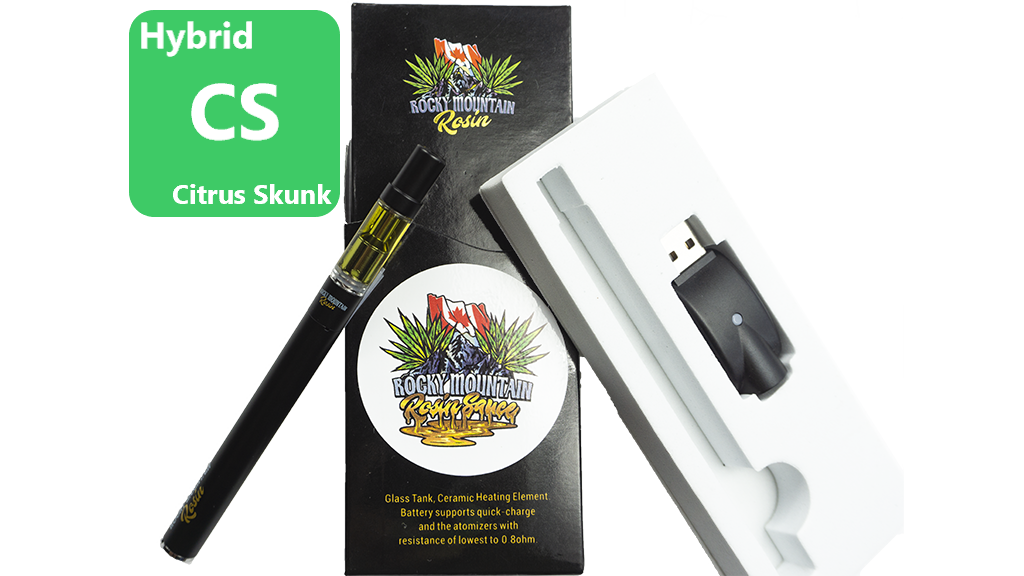 Citrus Skunk (Sativa) (Full Spectrum) Rosin Vape Kit by Rocky Mountain 01135