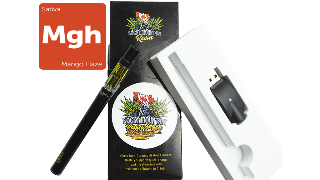 Mango Haze (Sativa) (Full Spectrum) Rosin Vape Kit by Rocky Mountain 01144