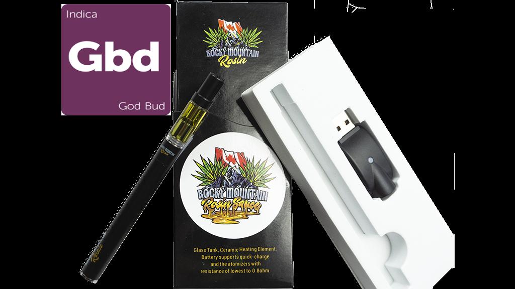 God Bud (Indica) (Full Spectrum) Rosin Vape Kit by Rocky Mountain 01268