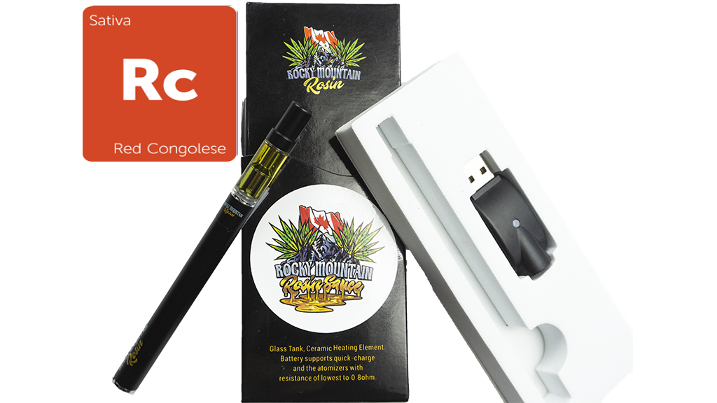 Red Congo (Sativa) (Full Spectrum) Rosin Vape Kit by Rocky Mountain 01269