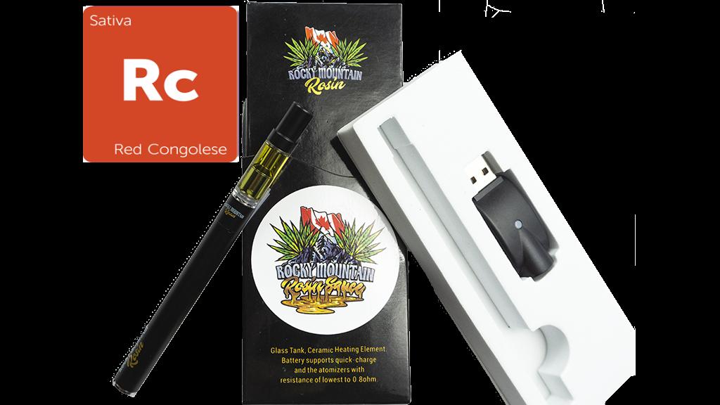 Red Congo (Sativa) (Full Spectrum) Rosin Vape Kit by Rocky Mountain