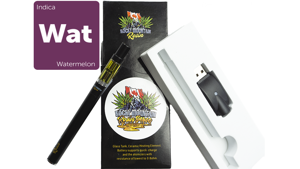 Watermelon (Indica) (Full Spectrum) Rosin Vape Kit by Rocky Mountain 01272