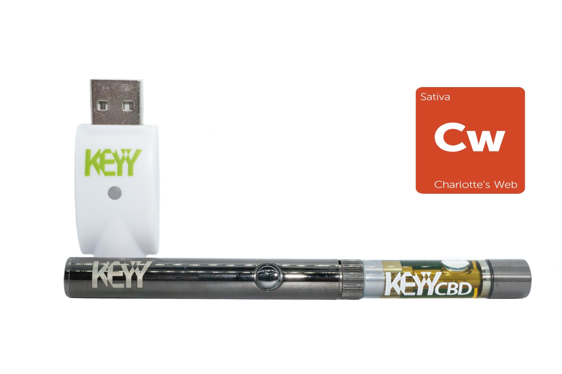Charlotte's Web (8:1) CBD Vape Pen Kit by Keyy 01202